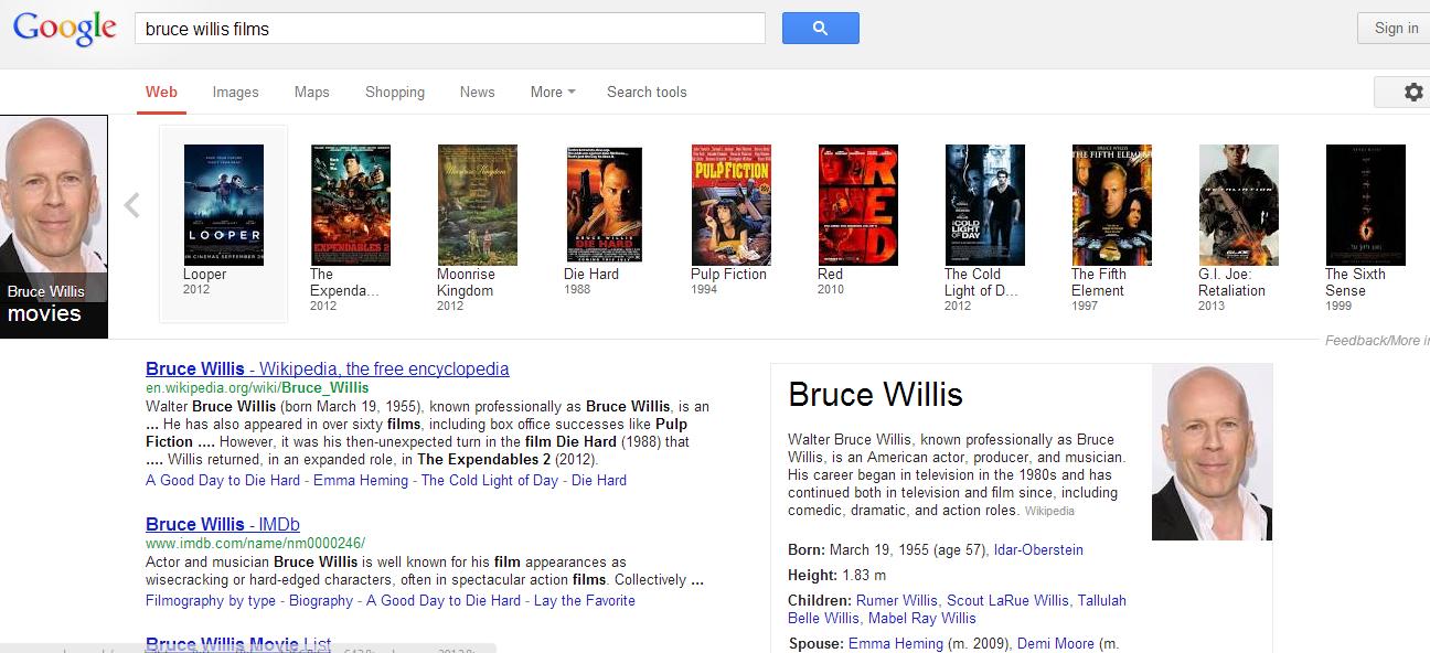 bruce willis movies list imdb Bruce Willis Movies List