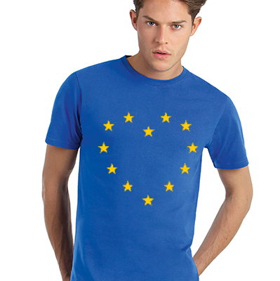 0002 - EU Heart T-Shirt Full Front