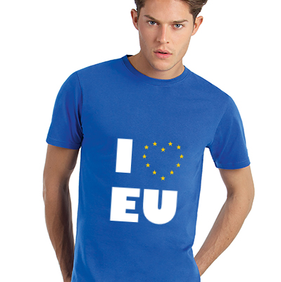 0003 - I Love EU T-Shirt Full Front